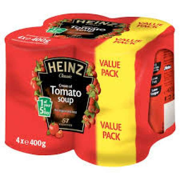 4 Cans Of Heinz Tomato Soup