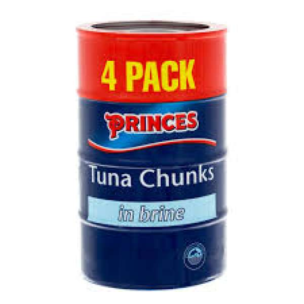 Princes Tuna Chunks 4 Pack