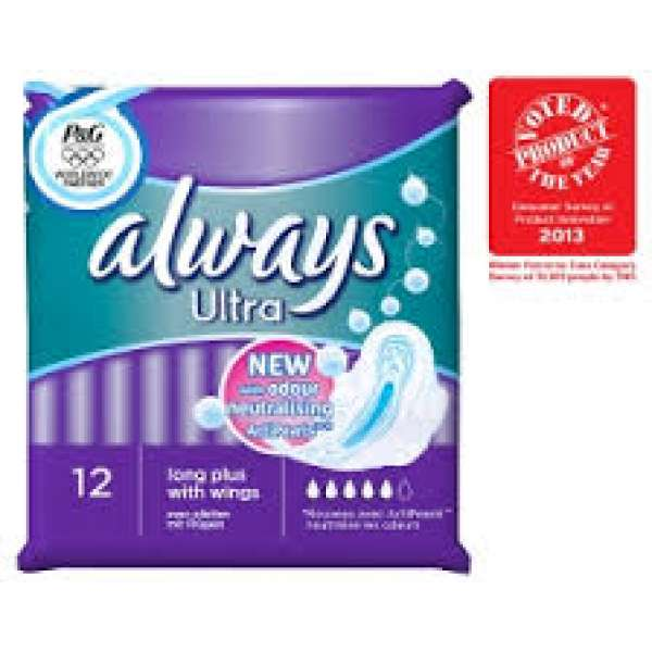 Always Sanitary Pads 12 Pack